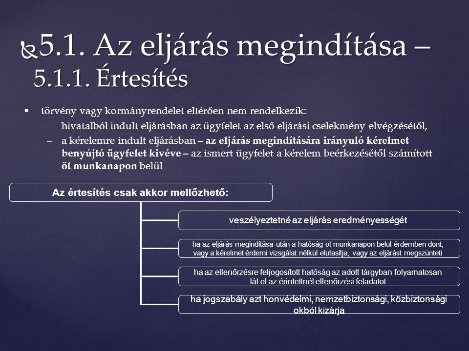  5.1. Az eljárás megindítása – 5.1.1.