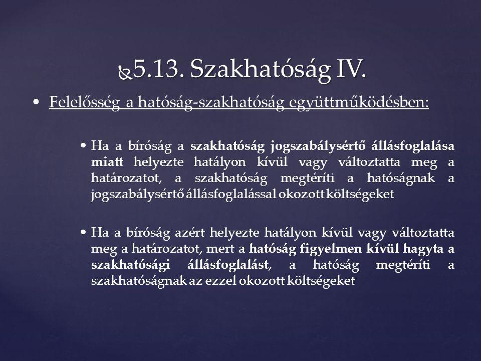  5.13. Szakhatóság IV.