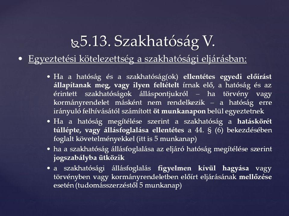  5.13. Szakhatóság V.
