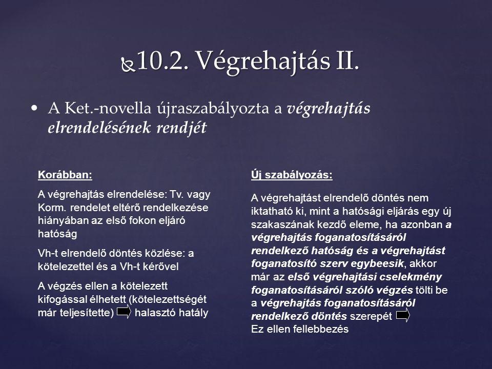  10.2. Végrehajtás II.