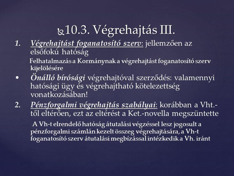  10.3. Végrehajtás III.