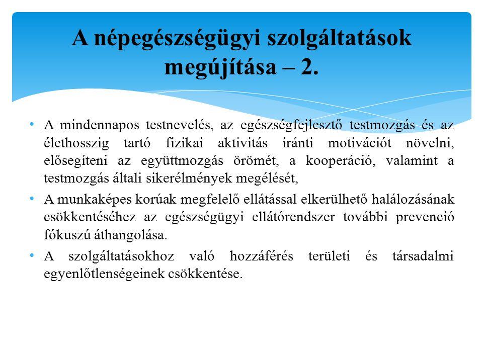 A népegészségügyi szolgáltatások megújítása – 2.