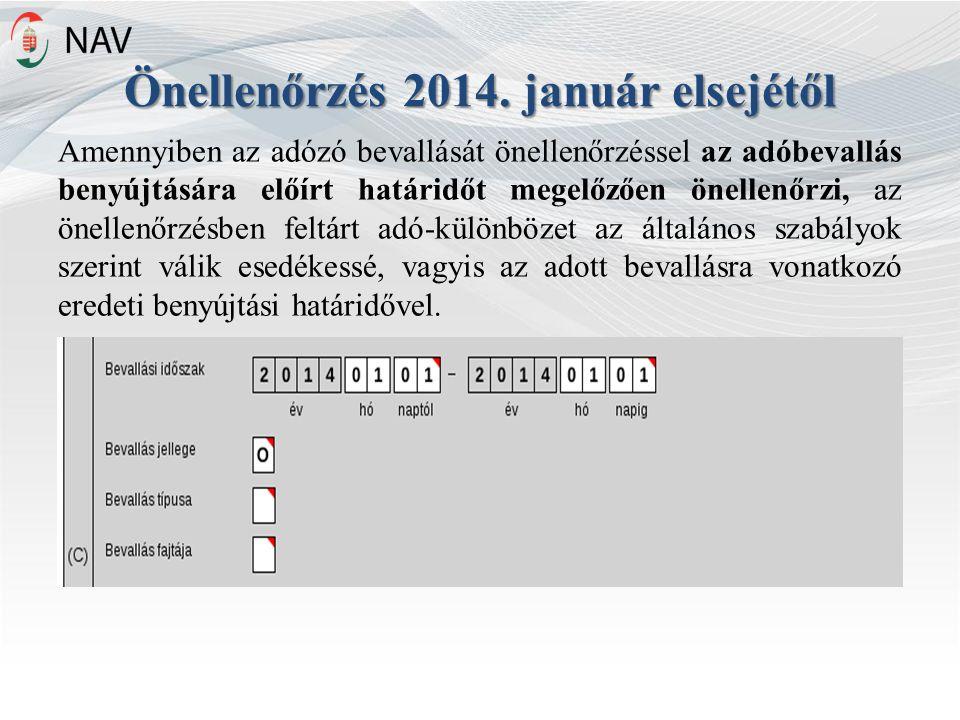 Önellenőrzés 2014.