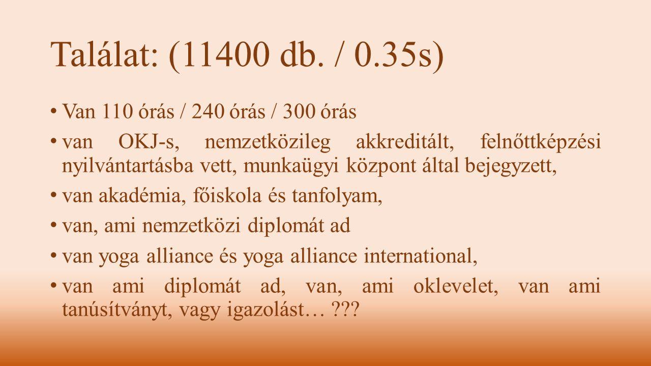 Találat: (11400 db. / 0.35s) Van 110 órás / 240 órás / 300 órás van OKJ-s, nemzetközileg akkreditált, felnőttképzési nyilvántartásba vett, munkaügyi k