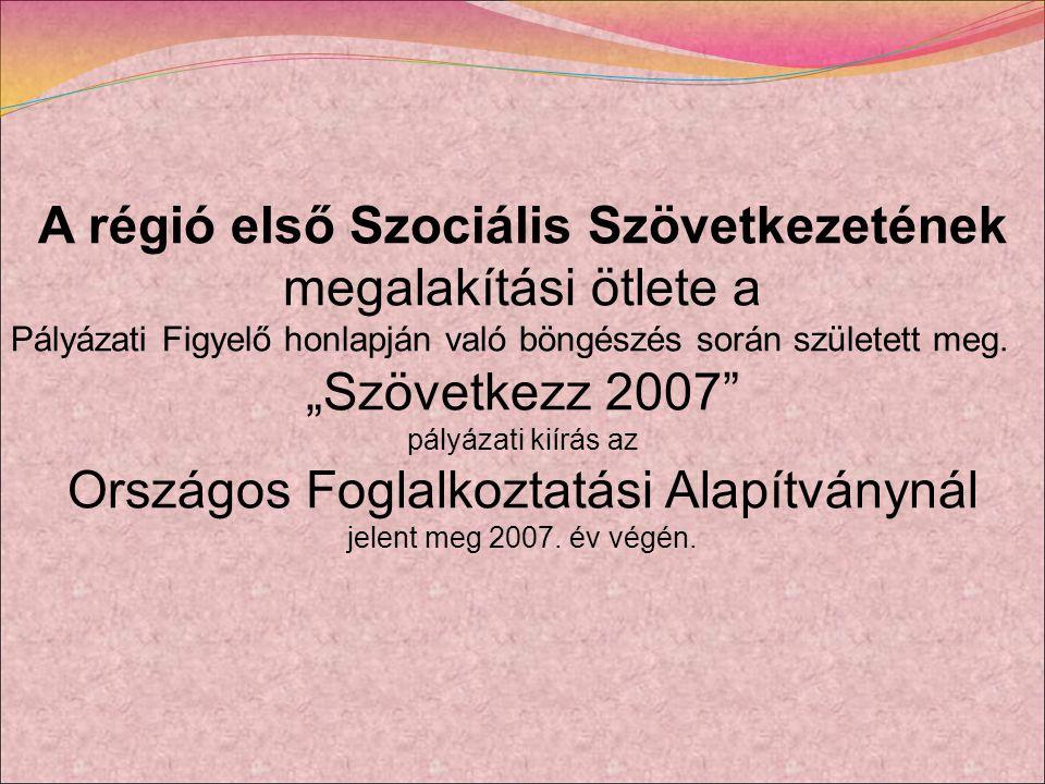 A régió első Szociális Szövetkezetének megalakítási ötlete a Pályázati Figyelő honlapján való böngészés során született meg.