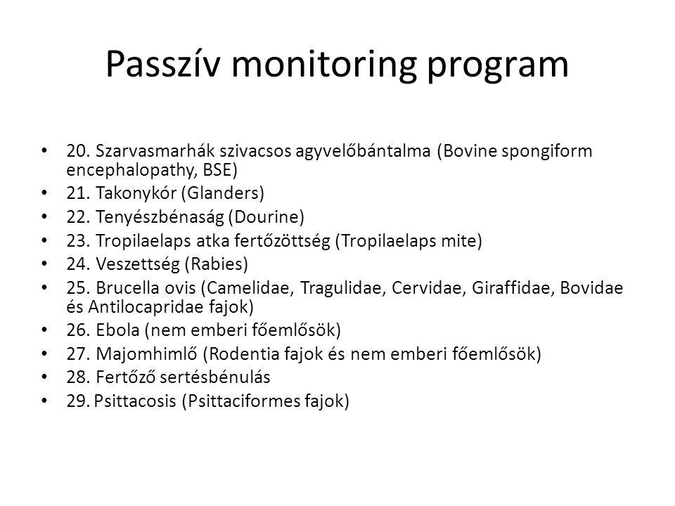 Passzív monitoring program 20.