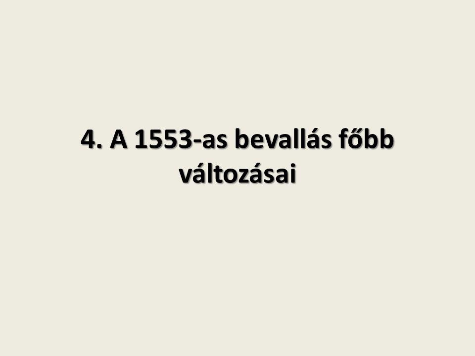 4. A 1553-as bevallás főbb változásai