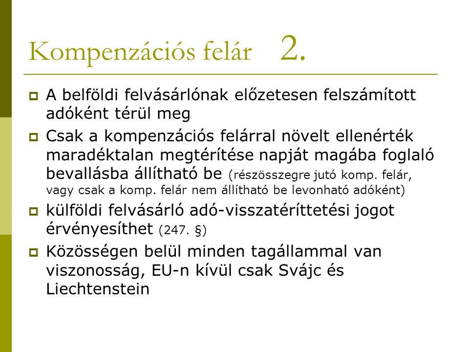 Kompenzációs felár 2.