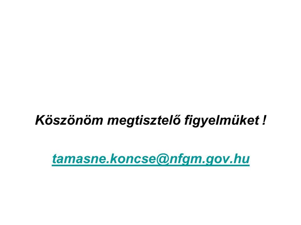 Köszönöm megtisztelő figyelmüket ! tamasne.koncse@nfgm.gov.hu
