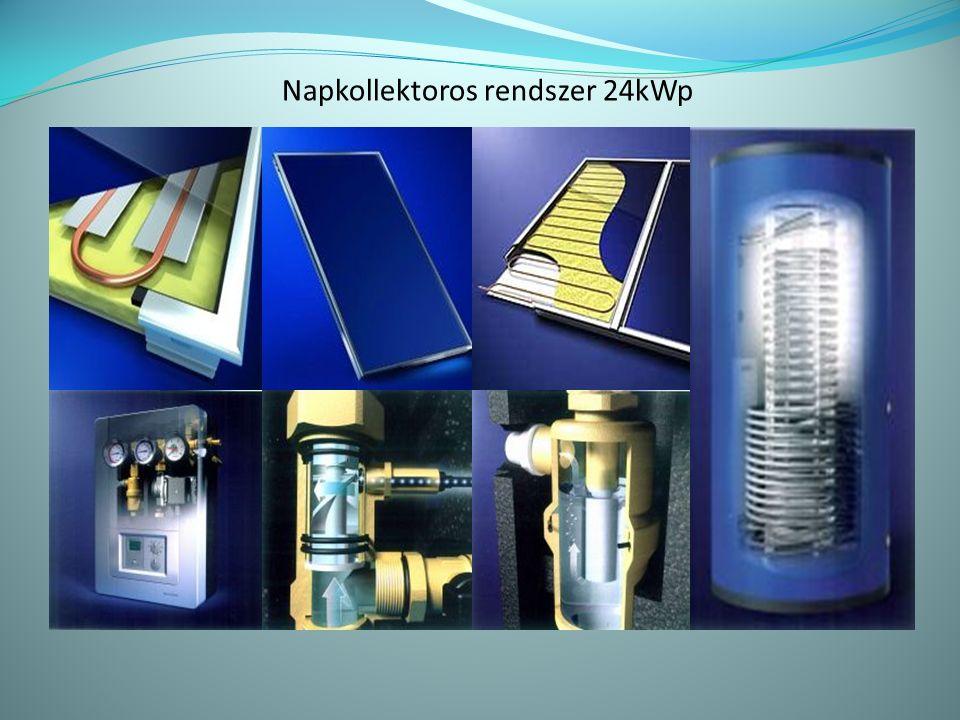 Napkollektoros rendszer 24kWp