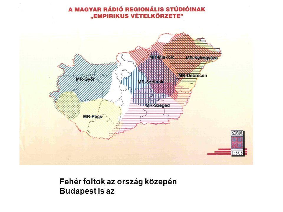 Fehér foltok az ország közepén Budapest is az