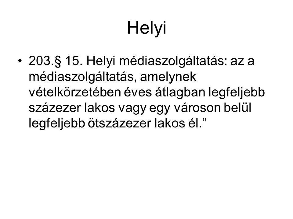 Helyi 203.§ 15.
