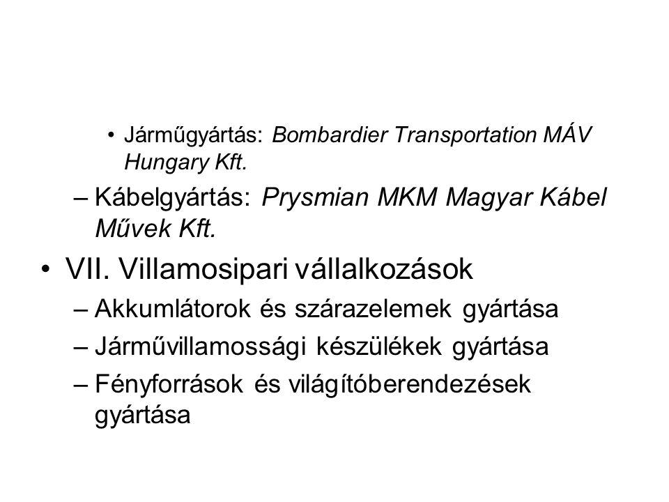 Járműgyártás: Bombardier Transportation MÁV Hungary Kft.