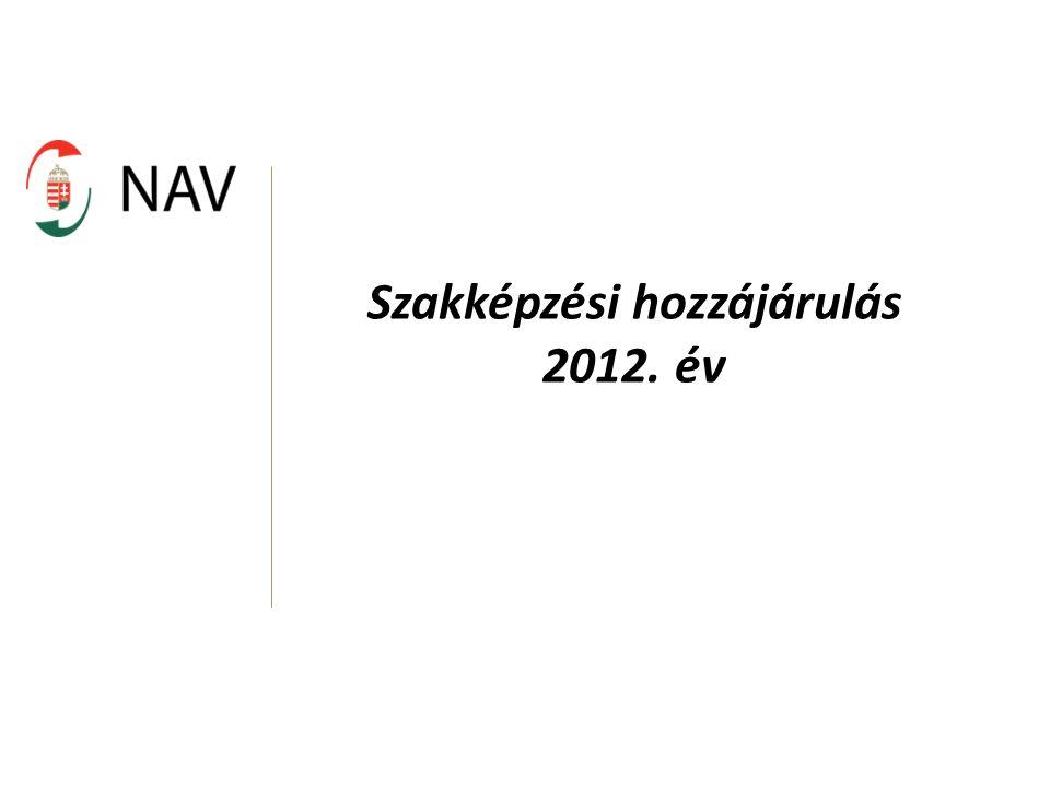 Szakképzési hozzájárulás 2012. év