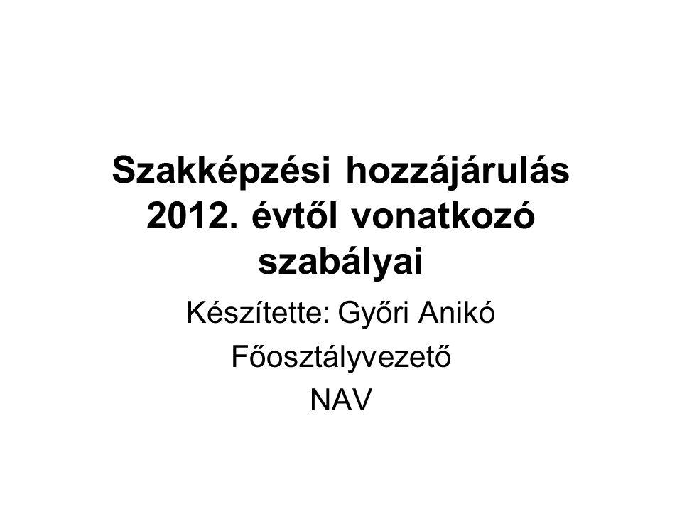 Szakképzési hozzájárulás 2012.