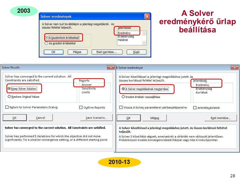 28 2003 2010-13 A Solver eredménykérő űrlap beállítása