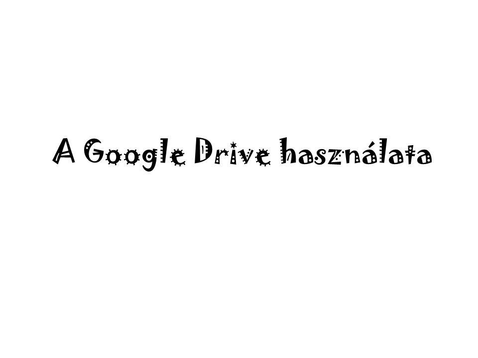A Google Drive használata