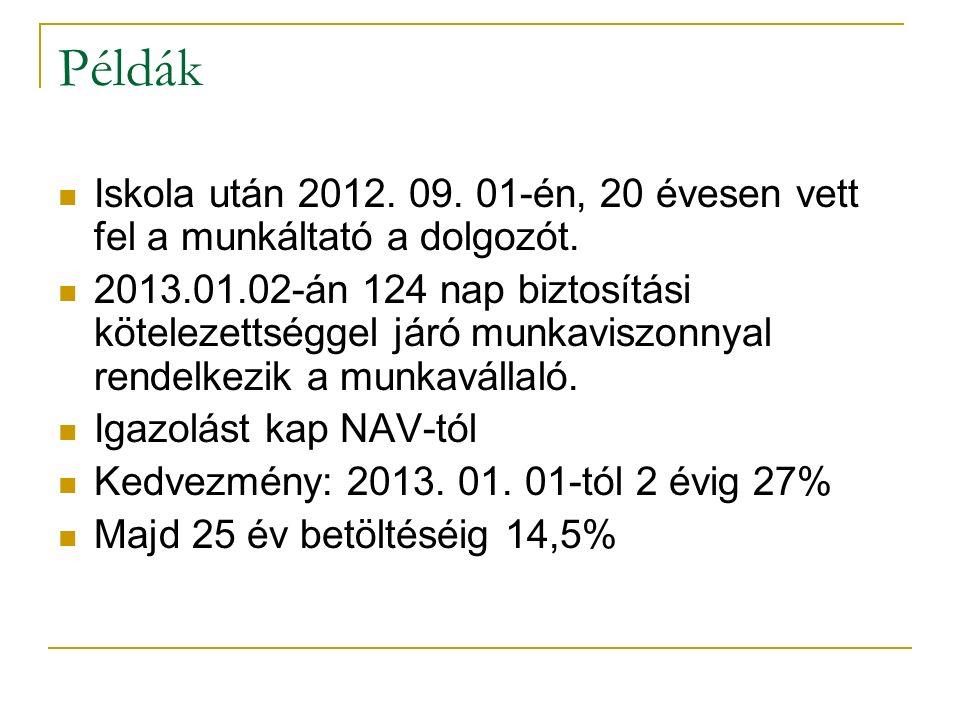 """Példák """"A Kft.foglalkoztatja 2012."""