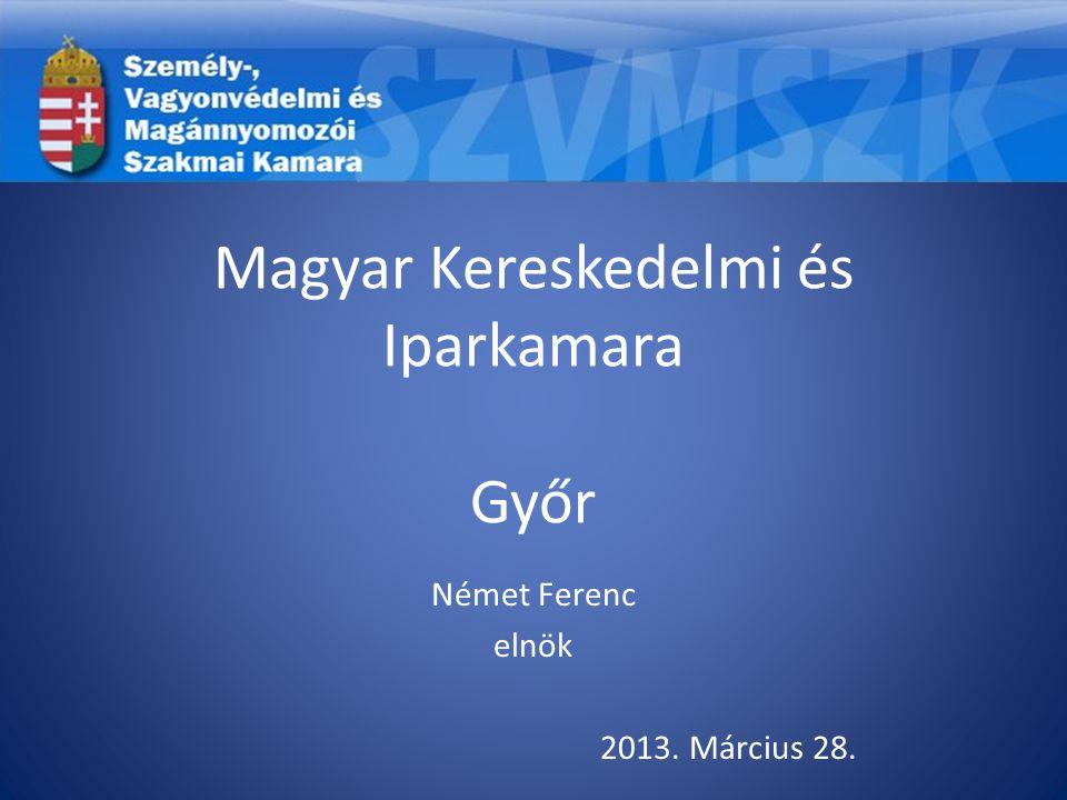 Magyar Kereskedelmi és Iparkamara Győr Német Ferenc elnök 2013. Március 28.