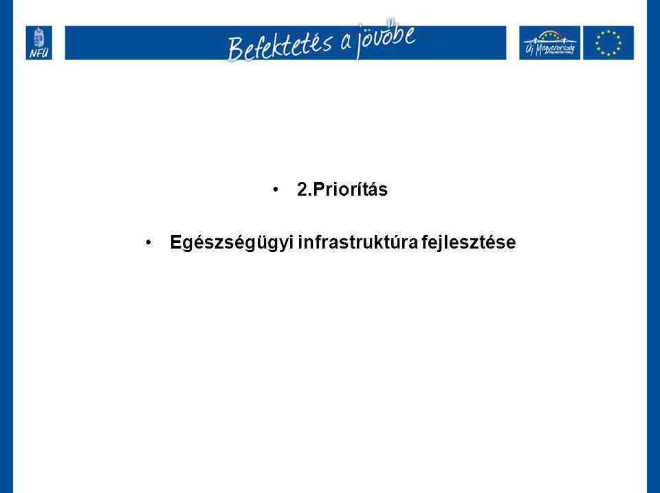 2.Priorítás Egészségügyi infrastruktúra fejlesztése