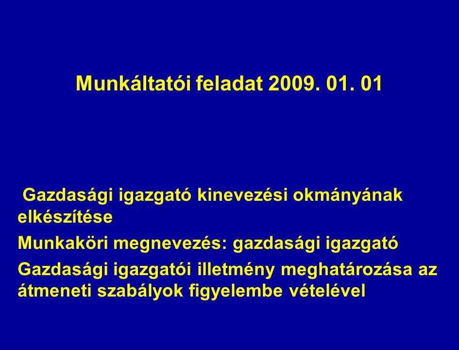Munkáltatói feladat 2009. 01.