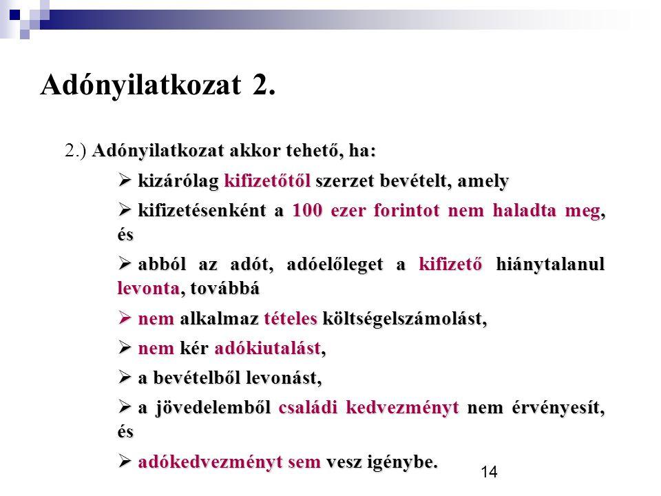 14 Adónyilatkozat 2.