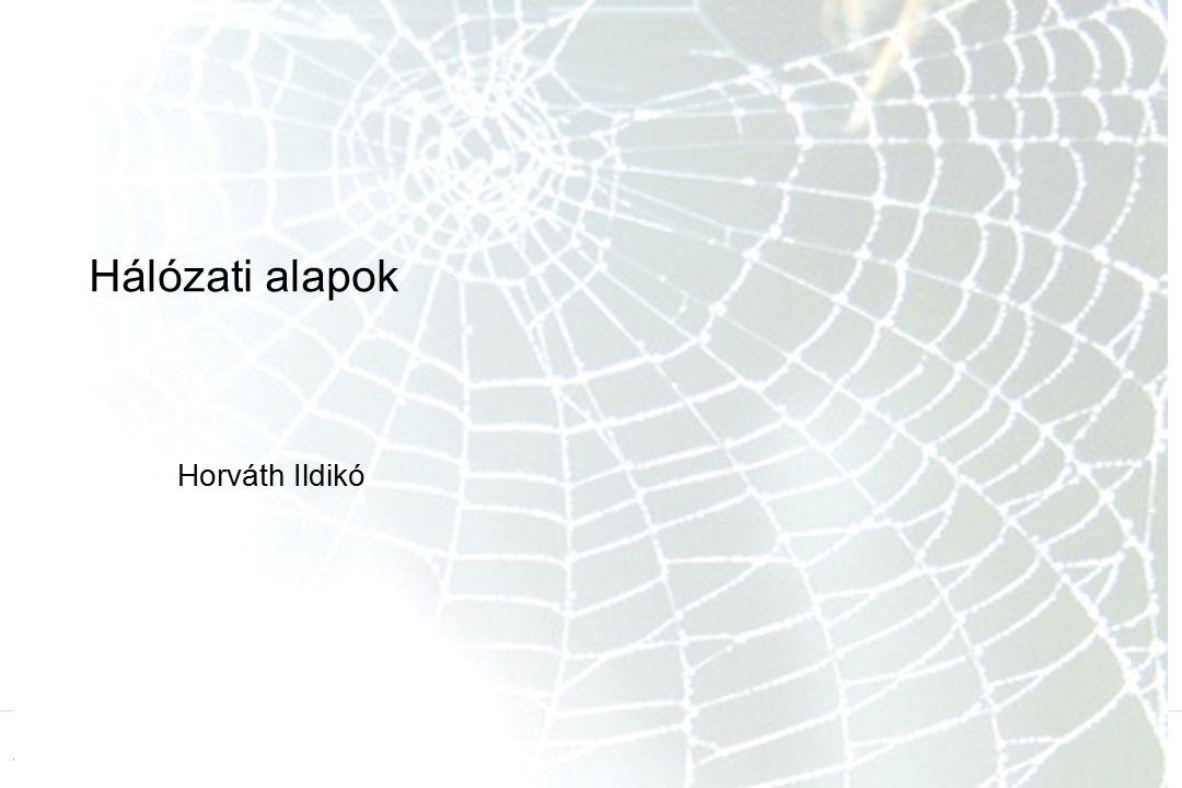 1 Hálózati alapok Horváth Ildikó