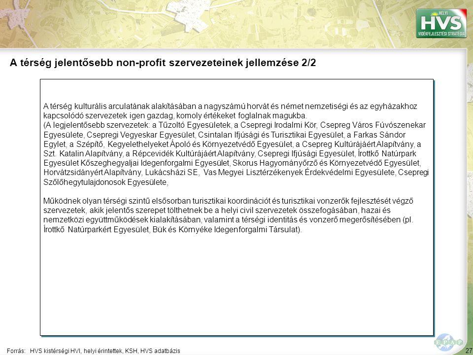 27 A térség kulturális arculatának alakításában a nagyszámú horvát és német nemzetiségi és az egyházakhoz kapcsolódó szervezetek igen gazdag, komoly é