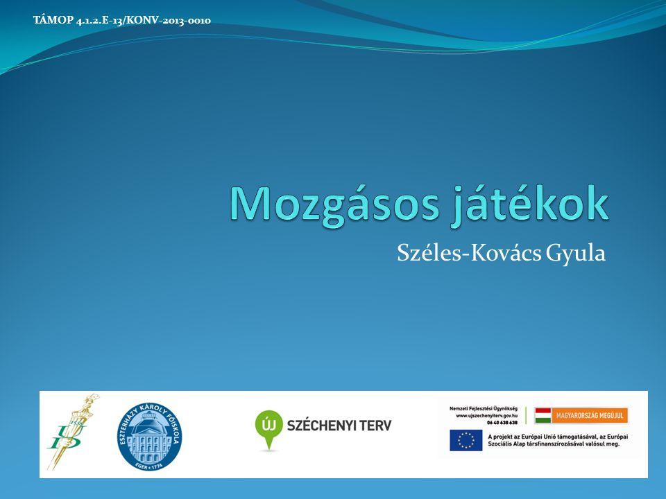 Széles-Kovács Gyula TÁMOP 4.1.2.E-13/KONV-2013-0010