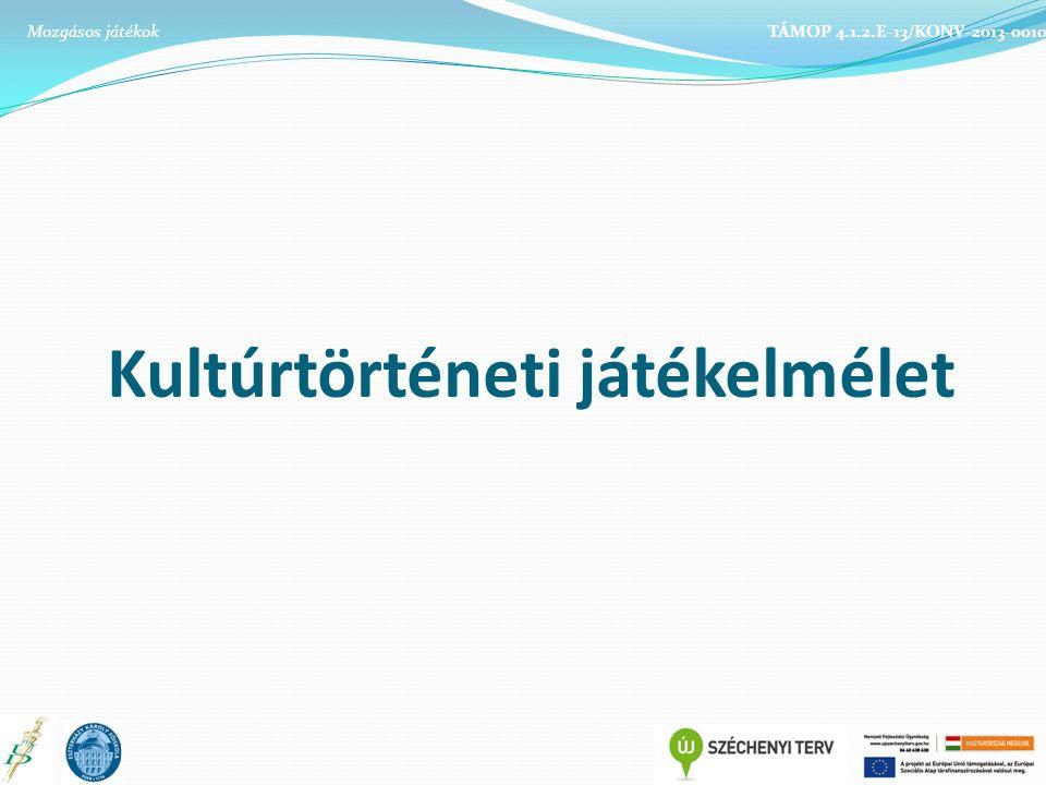 Kultúrtörténeti játékelmélet TÁMOP 4.1.2.E-13/KONV-2013-0010Mozgásos játékok