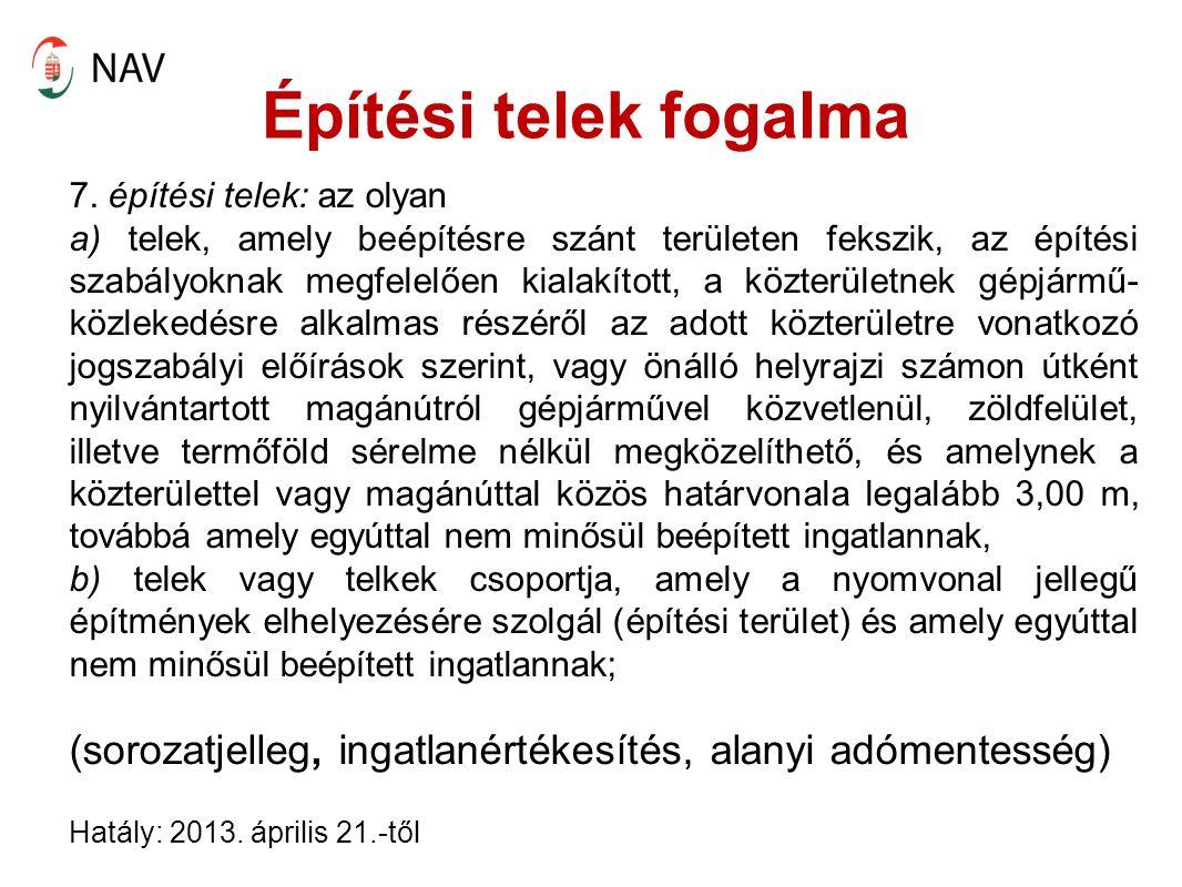 Beruházási hitelkamat adókedvezménye [22/A.§] A 2013.