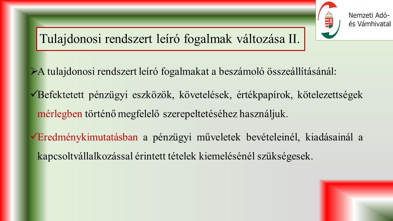 Tulajdonosi rendszert leíró fogalmak változása II.
