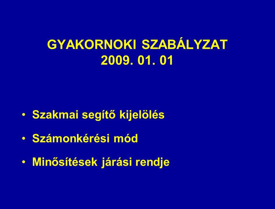 GYAKORNOKI SZABÁLYZAT 2009. 01.