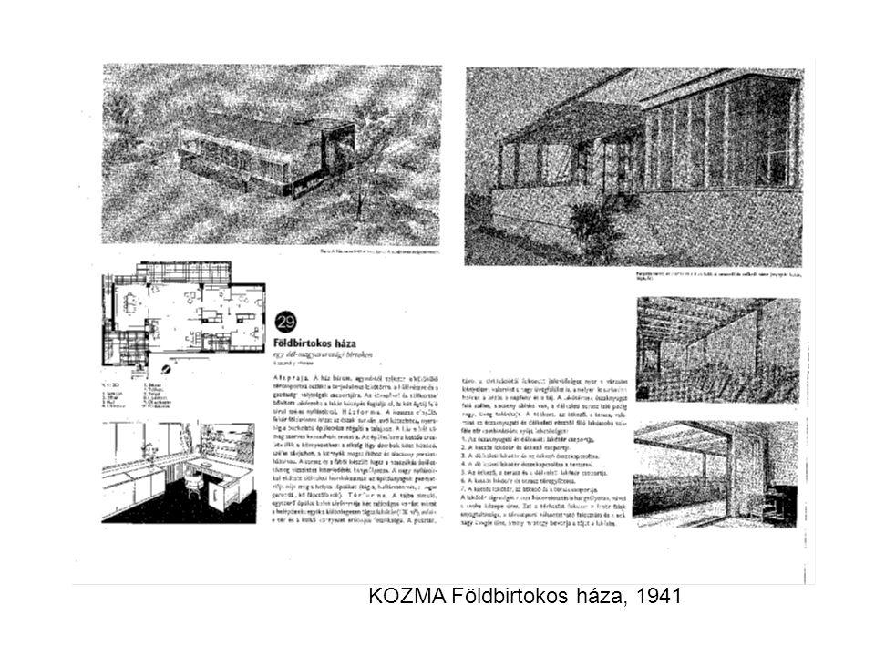 KOZMA Földbirtokos háza, 1941