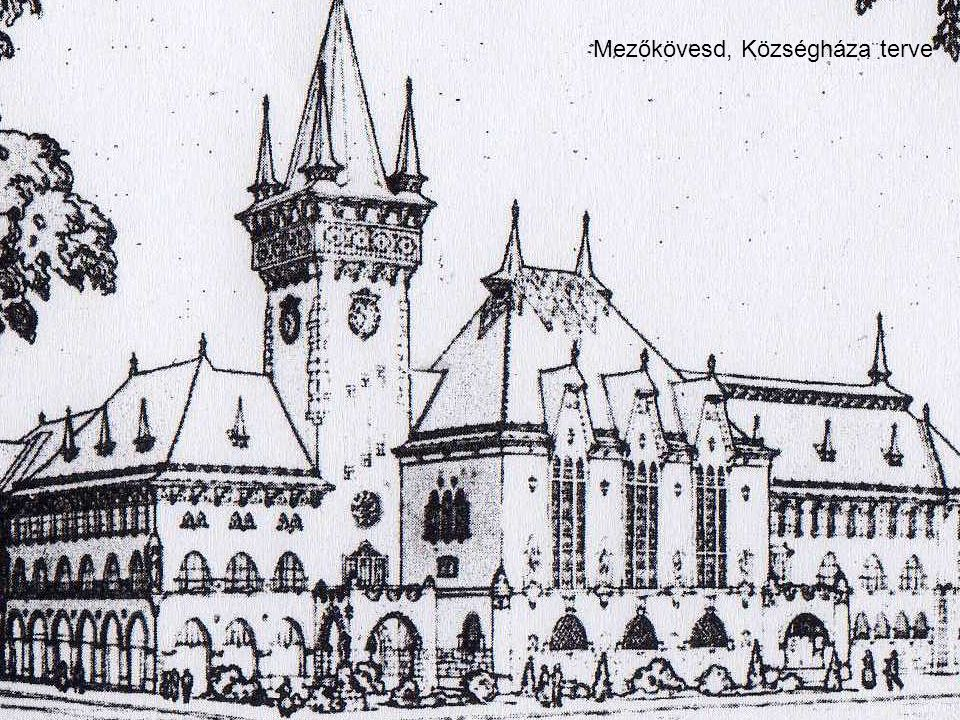 Frantsek Imre, 1928 Mezőkövesd, Községháza terve