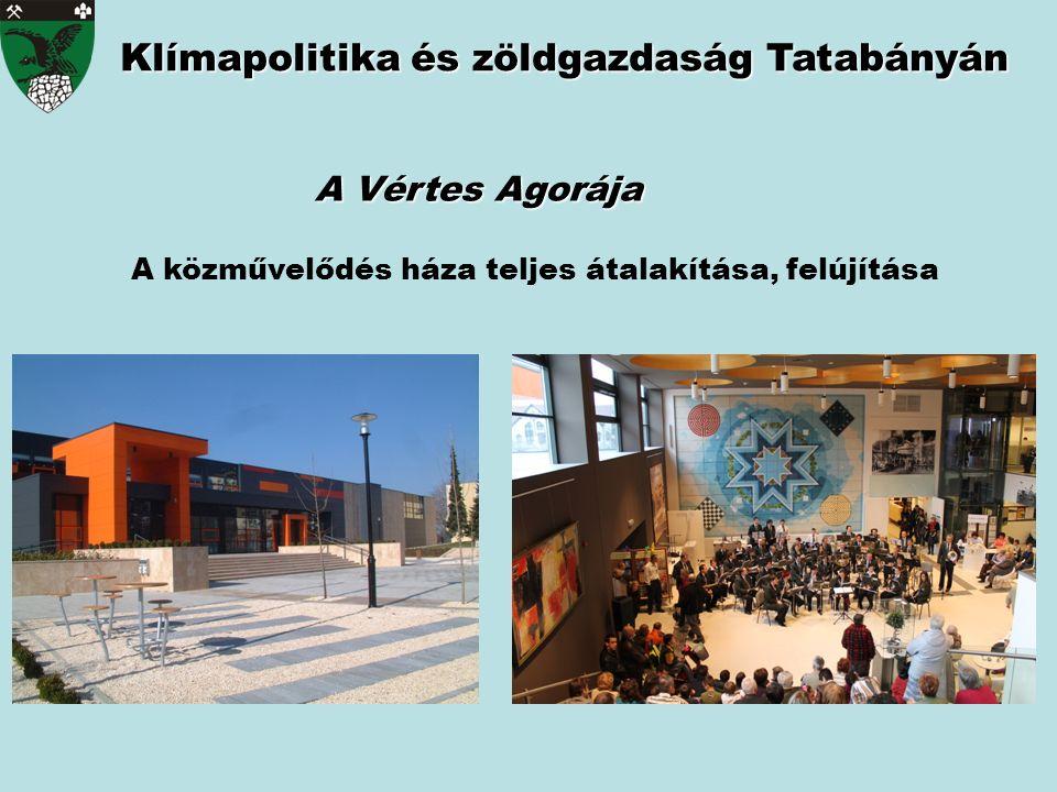 Klímapolitika és zöldgazdaság Tatabányán A Vértes Agorája A közművelődés háza teljes átalakítása, felújítása