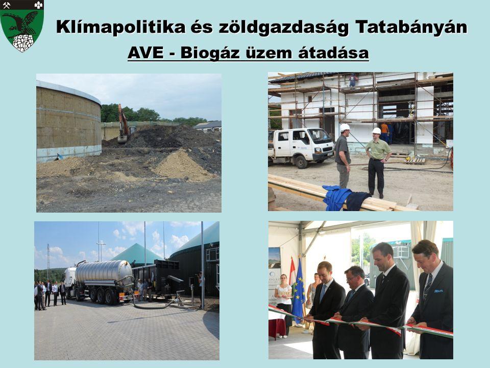 Klímapolitika és zöldgazdaság Tatabányán AVE - Biogáz üzem átadása