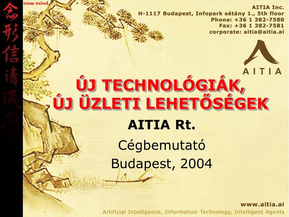 ÚJ TECHNOLÓGIÁK, ÚJ ÜZLETI LEHETŐSÉGEK AITIA Rt. Cégbemutató Budapest, 2004 now mind