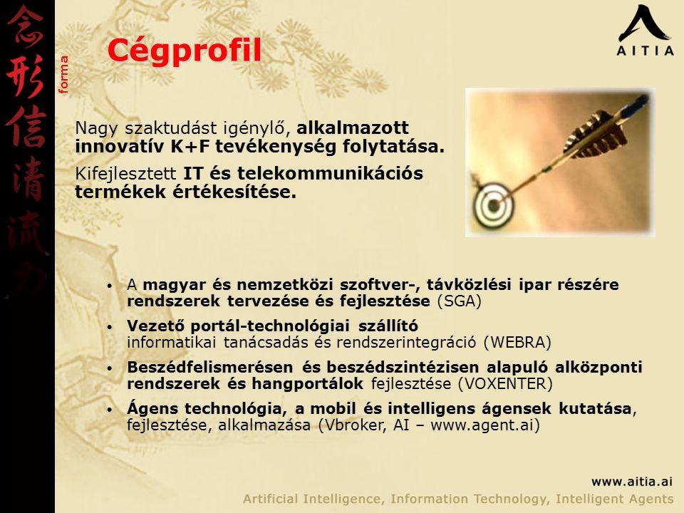 Cégprofil Nagy szaktudást igénylő, alkalmazott innovatív K+F tevékenység folytatása.