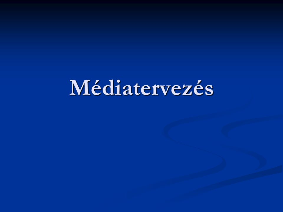 Médiatervezés