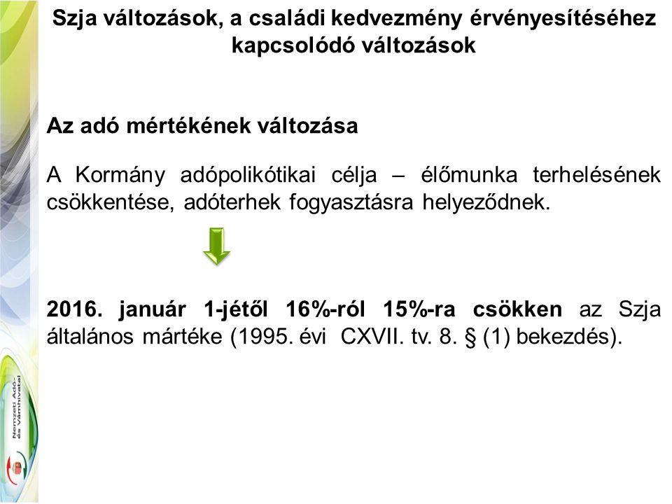 Az egyes meghatározott és a béren kívüli juttatások adókötelezettségének változásai (Iskolakezdési tám.) Iskolakezdési támogatás (71.