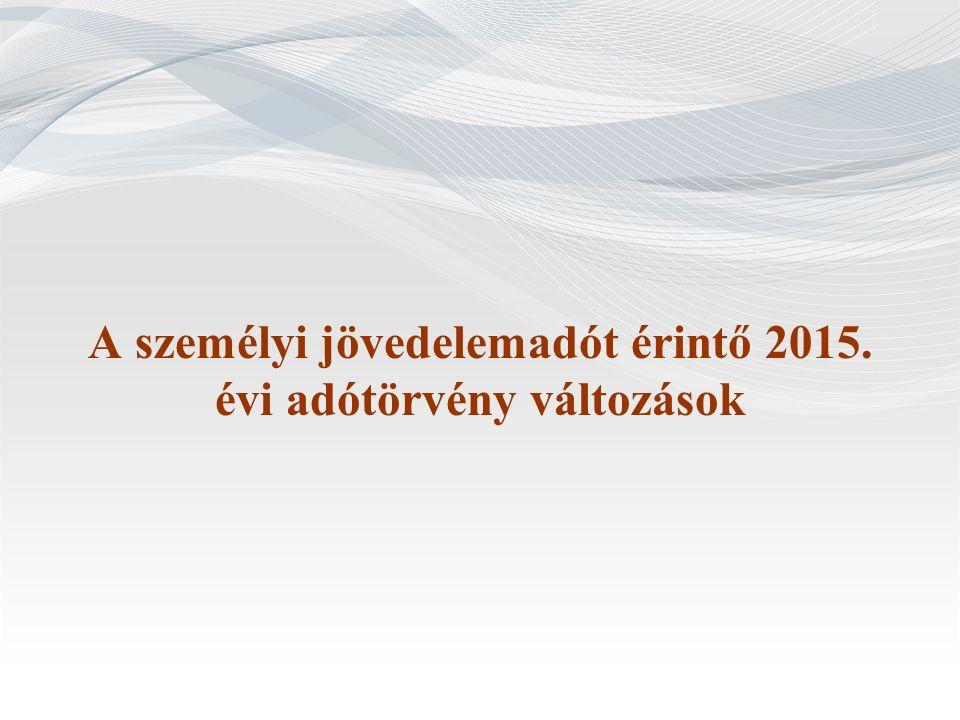 Egyéb módosítások (2)  2015.