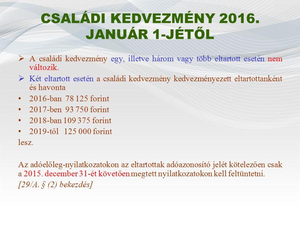 ELSŐ HÁZASOK KEDVEZMÉNYE (1) 2015.január 1-jétől azok, akik 2014.