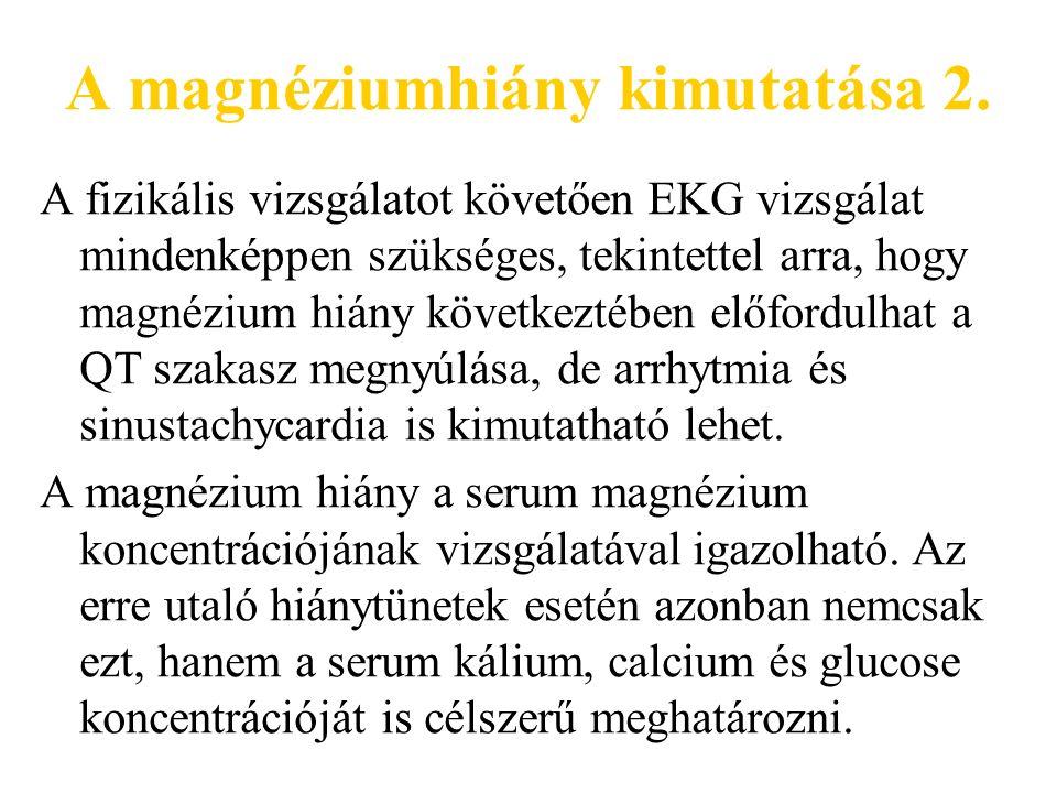 A magnéziumhiány kimutatása 2.