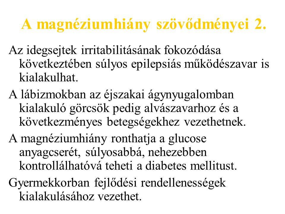 A magnéziumhiány szövődményei 2.