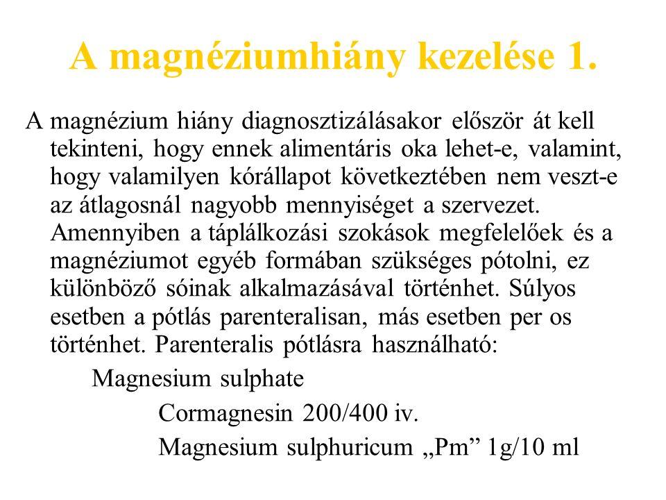 A magnéziumhiány kezelése 1.