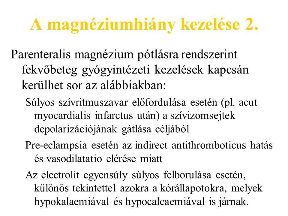 A magnéziumhiány kezelése 2.