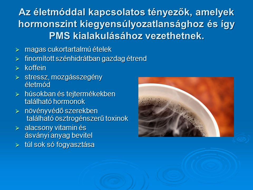 A PMS kialakulásának esélye összefüggésben van a serdülőkortól a menopauzáig  a szülések számával  az életkorral - gyakoribb 25-35 éves nők körében  a lelkiállapottal - feszültséggel, szorongással, lelki traumákkal  a mozgásszegény életmóddal  a súlygyarapodással vagy súlyvesztéssel  a rendszertelen táplálkozással vagy alacsony tápértékű élelmiszerek fogyasztásával