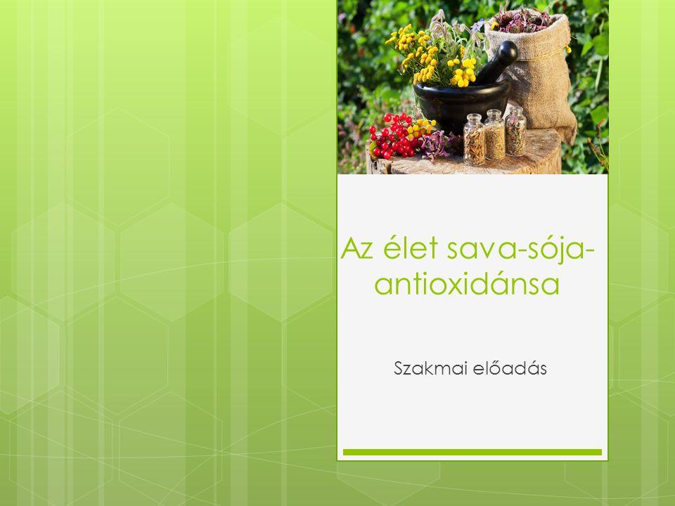 Az élet sava-sója- antioxidánsa Szakmai előadás