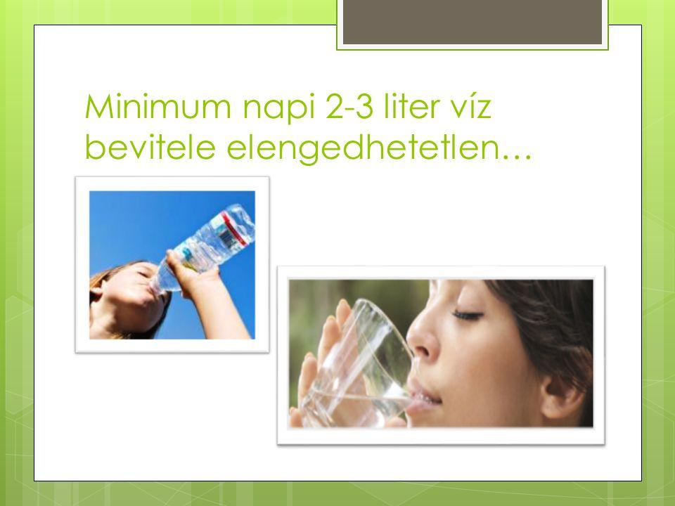 Minimum napi 2-3 liter víz bevitele elengedhetetlen…